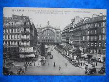 PARIS  :  Le Boulevard Denain - La Gare du Nord.