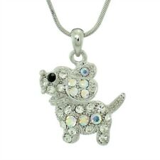 Dog Made With Swarovski Crystal Beagle Puppy Pet Friend Pendant New Necklace