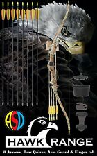 ASD HAWK CAMO Junior Archery Recurve Bow & Accessory Pack with 8 Arrows Ages 8+