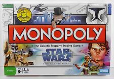 SEALED MONOPOLY STAR WARS THE CLONE WARS PARKER BROTHERS HASBRO (2008)