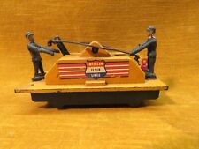Vintage 1950's American Flyer Lines 2 Man Pump Car, S Scale, Tested, Works