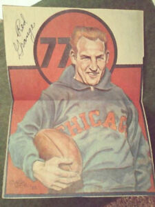 Red Grange Chicago Bears Football HOF Signed 8x11 Magazine NEWSPAPER Photo 1978