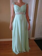 Mint, Size 2, Floor length, Chiffon Gown