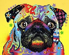 Pug by Dean Russo Dog, Print 8x10
