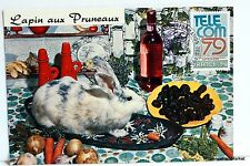 Yt 2055 A RABBIT WITH PRUNES FRANCE CARD MAXIMUM 1° DAY FCP