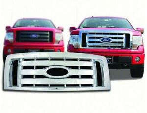 2009-2012 Ford F150 XL / STX / FX4 Chrome Plastic Grille Insert CCI # GI/73 NEW