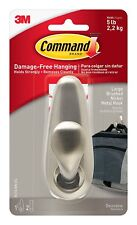 3M 93966 Command 390341 Large Forever Classic Brushed Nickel Metal Hook