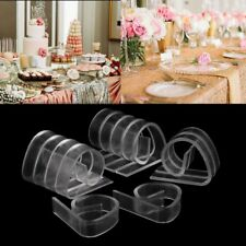 12Pcs Plastic Clear Tablecloth Table Cover Clips Holder Clamp Party Picnic Decor