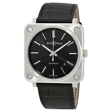Bell and Ross Aviation Black Dial Automatic Mens Watch BRS92-BLC-ST/SCR