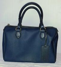 Escada, Handtasche Shopper dunkelblau Canvas/Leder (35x27cm) neuwertig!