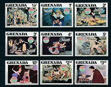 GRENADA - 1980 - DISNEY - SNOW WHITE - SEVEN DWARFS - PRINCE - MINT - MNH SET!