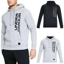 Under Armour Mens Rival Fleece Script Hoodie UA Graphic Lightweight Pullover Top