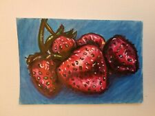 Strawberry Marker Drawing 4x6