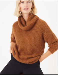 B8 BNWT M&S Collection Tan Cowl Neck Textured Jumper