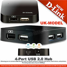 D-Link USB 2.0 Powered Hub 4-Port Fast for Laptop PC MAC 480Mbits DUB-H4 UK