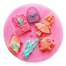 Girl Things 6 Cavity Silicone Mold for Fondant, Gum Paste, Chocolate, Crafts