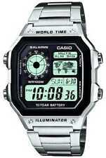 Relojes de pulsera digitales de acero inoxidable cronógrafo
