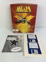 "MiG-29 Fulcrum - Domark IBM 3 1/2"" Disk MGP3 PC Game 1991 Big Box Flight Sim"