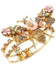 Betsey Johnson Queen Bee cuff bracelet NWT New hinge