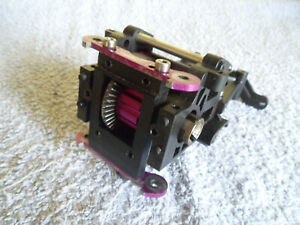 HPI SAVAGE FRONT OR REAR GEARBOX WITH UPGRADED PURPLE ALLOY DIFF & SHOCK TOWER