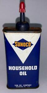 Vintage, SUNOCO HOUSEHOLD OIL , 4oz.,Tin Oiler Can (Sunoco Gasoline Pump)