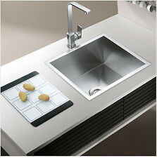New 500x450x205mm Undermount 304 Basin Stainless Steel Kitchen Sink