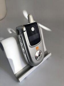 Incomplete Motorola V220 Silver Orange Mobile Phone