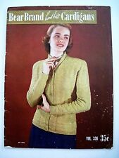 "Vintage 1948 ""Bear Brand Hand Knit Cardigans Booklet w/ Instructions"