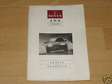 Rover 400 Owners Manual Handbook 1990 - 1995 Free Postage