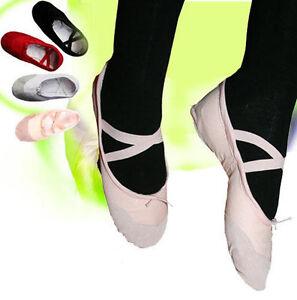 Ballettschuhe ROSA Ballerinas Tanzschuche Ballet Ballettschläppchen Schuhe Tanz