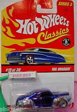 2007 Hot Wheels S3 Classics #19 TAIL DRAGGER☆Dark Blue & Chrome; bbs☆Series 3