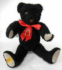 Merrythought Black Wishbone Teddy Bear 15in LE 1000 Memorial Oliver Wool Plush