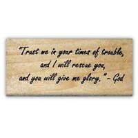 Trust me... and I will rescue you mounted rubber stamp, religious, Christian #22