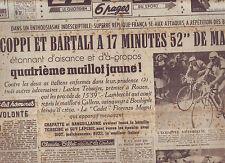 journal  l'équipe du 04/07/49 CYCLISME TOUR DE FRANCE 1949 MARCELAK BOBET