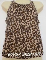 New Primark Festival Leaves Hearts Dollar Animal Print Vest Top Tee Shirt Blouse