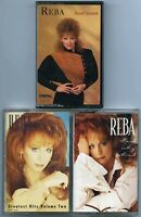 Lot of 3 Reba McEntire country cassette tapes Read My Mind Sweet Sixteen Hits