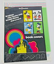 1970s Mickey Mouse Walt Disney World Alco Book Covers Sealed Vintage