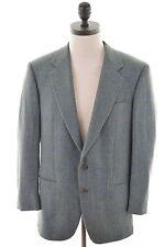 NINO CERRUTI Mens 2 Button Blazer Jacket Size 38 Medium Green Check Wool