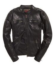 SUPERDRY Real Hero Leather Biker Jacket Medium