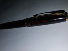 RED MARBLE Black Lacquer SONNET PARKER FOUNTAIN PEN 18K GOLD nib ( FINE ) NEW