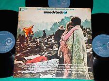 Woodstock - OST BRAZIL 1ST PRESS RARE MONO 3 lp set 1970 ATCO Tri Fold Cover