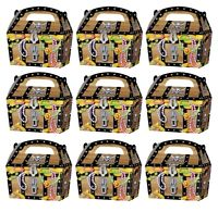 20 x PIRATE TREASURE CHEST PARTY TREAT CAKE FOOD BOXES FAVORS GOODY BAGS 395-905