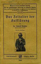 Das Zeitalter Der Aufklarung. . 1920. I ED..