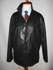 FULL GRAIN TOP QUALITY BRITISH MADE   REAL LEATHER COAT - SIZE  L-FITS  UK 42-44