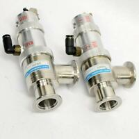 (Lot of 2) Fuji Seiki Right Angle Pneumatic Vacuum Valves NW25 1282200 1282250