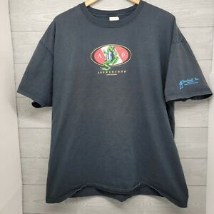 Vintage Amphibious Outfitters TShirt Size XL Black Frog