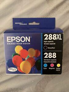 Epson 288XL Black 288 Cyan Magenta Yellow Ink Cartridges Exp 10/2023 SEALED