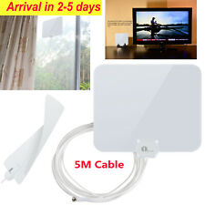 1Byone Super Thin Indoor Digital HD TV Antenna FM/VHF/UHF Free Signals 25 Miles