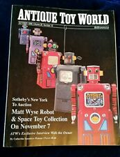 "ANTIQUE TOY WORLD Oct 1996 Vol 26 Is10 ""Sotheby's Matt Wyse Robot & Space Coll """