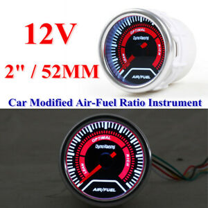 Car Modified Air-fuel Ratio Meter Instrument 52MM Racing General 12V Gauge Parts